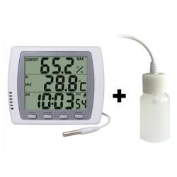 Double thermomètre/hygromètre horloge + ralentisseur thermique