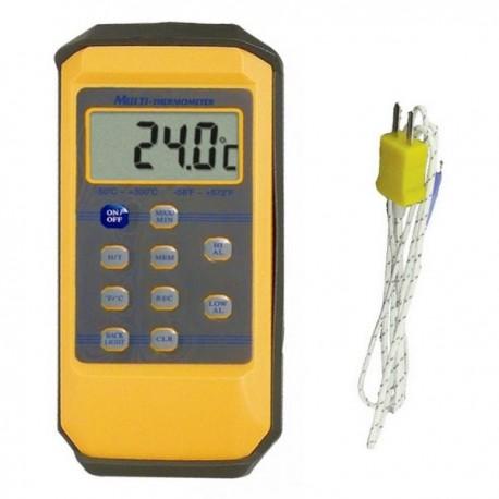 Thermomètre type K - 10 mémoires - alarme