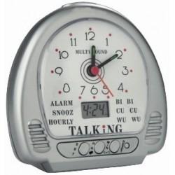 Réveil digital/aiguilles parlant