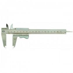 Pied à coulisse analogique monobloc, bec croisé - 135mm
