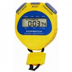 Chronomètre 2 temps jaune