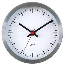 """Horloge inox """"gare"""" - Diamètre 15 cm"""