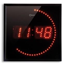 Pendule LED rouge