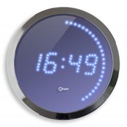 Horloge LED bleu - diamètre 30 cm