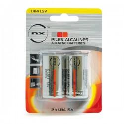 Blister 2 piles alcalines LR14 C 1.5V