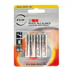Blister 4 piles LR03/AAA alcaline 1.5V