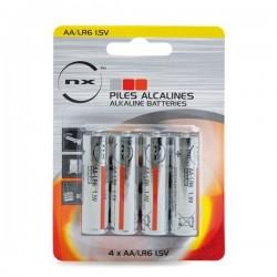 Blister 4 piles LR06/AA alcaline 1.5V
