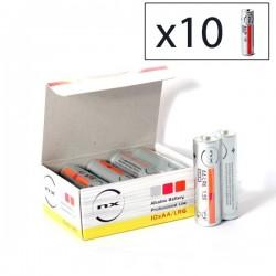 Boîte 10 piles alcalines LR06/AA 1.5V