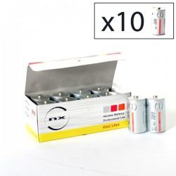 Boîte 10 piles LR14/C 1.5V