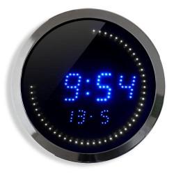 Horloge LED T° et date 30cm