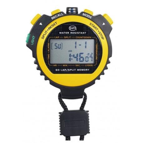 Chronomètre 60 mémoires - Solaire - Thermomètre