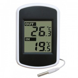 Double thermomètre intérieur extérieur